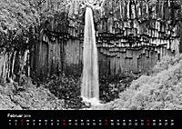 Die schönsten Wasserfälle Islands in schwarz weiss Fotos (Wandkalender 2019 DIN A2 quer) - Produktdetailbild 2