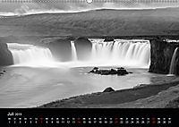 Die schönsten Wasserfälle Islands in schwarz weiß Fotos (Wandkalender 2019 DIN A2 quer) - Produktdetailbild 7