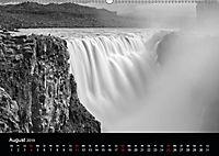 Die schönsten Wasserfälle Islands in schwarz weiss Fotos (Wandkalender 2019 DIN A2 quer) - Produktdetailbild 8