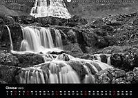 Die schönsten Wasserfälle Islands in schwarz weiß Fotos (Wandkalender 2019 DIN A2 quer) - Produktdetailbild 10