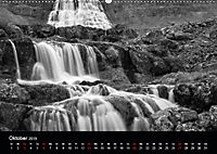 Die schönsten Wasserfälle Islands in schwarz weiss Fotos (Wandkalender 2019 DIN A2 quer) - Produktdetailbild 10
