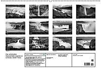 Die schönsten Wasserfälle Islands in schwarz weiss Fotos (Wandkalender 2019 DIN A2 quer) - Produktdetailbild 13