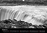 Die schönsten Wasserfälle Islands in schwarz weiß Fotos (Wandkalender 2019 DIN A3 quer) - Produktdetailbild 1