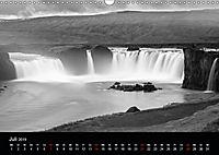 Die schönsten Wasserfälle Islands in schwarz weiß Fotos (Wandkalender 2019 DIN A3 quer) - Produktdetailbild 7