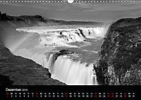 Die schönsten Wasserfälle Islands in schwarz weiß Fotos (Wandkalender 2019 DIN A3 quer) - Produktdetailbild 12