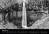 Die schönsten Wasserfälle Islands in schwarz weiß Fotos (Wandkalender 2019 DIN A3 quer) - Produktdetailbild 2