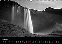 Die schönsten Wasserfälle Islands in schwarz weiß Fotos (Wandkalender 2019 DIN A3 quer) - Produktdetailbild 4