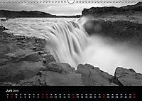 Die schönsten Wasserfälle Islands in schwarz weiß Fotos (Wandkalender 2019 DIN A3 quer) - Produktdetailbild 6