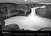 Die schönsten Wasserfälle Islands in schwarz weiß Fotos (Wandkalender 2019 DIN A3 quer) - Produktdetailbild 9