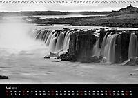 Die schönsten Wasserfälle Islands in schwarz weiß Fotos (Wandkalender 2019 DIN A3 quer) - Produktdetailbild 5