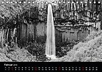 Die schönsten Wasserfälle Islands in schwarz weiß Fotos (Tischkalender 2019 DIN A5 quer) - Produktdetailbild 2