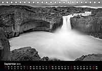 Die schönsten Wasserfälle Islands in schwarz weiß Fotos (Tischkalender 2019 DIN A5 quer) - Produktdetailbild 9