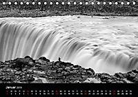 Die schönsten Wasserfälle Islands in schwarz weiß Fotos (Tischkalender 2019 DIN A5 quer) - Produktdetailbild 1