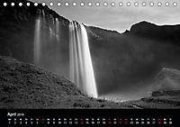 Die schönsten Wasserfälle Islands in schwarz weiß Fotos (Tischkalender 2019 DIN A5 quer) - Produktdetailbild 4