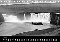 Die schönsten Wasserfälle Islands in schwarz weiß Fotos (Tischkalender 2019 DIN A5 quer) - Produktdetailbild 7