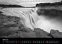 Die schönsten Wasserfälle Islands in schwarz weiß Fotos (Tischkalender 2019 DIN A5 quer) - Produktdetailbild 6