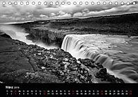 Die schönsten Wasserfälle Islands in schwarz weiß Fotos (Tischkalender 2019 DIN A5 quer) - Produktdetailbild 3