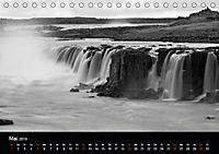 Die schönsten Wasserfälle Islands in schwarz weiß Fotos (Tischkalender 2019 DIN A5 quer) - Produktdetailbild 5