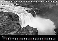 Die schönsten Wasserfälle Islands in schwarz weiß Fotos (Tischkalender 2019 DIN A5 quer) - Produktdetailbild 11