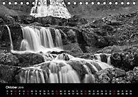 Die schönsten Wasserfälle Islands in schwarz weiß Fotos (Tischkalender 2019 DIN A5 quer) - Produktdetailbild 10
