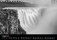 Die schönsten Wasserfälle Islands in schwarz weiß Fotos (Tischkalender 2019 DIN A5 quer) - Produktdetailbild 8