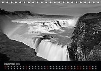 Die schönsten Wasserfälle Islands in schwarz weiß Fotos (Tischkalender 2019 DIN A5 quer) - Produktdetailbild 12