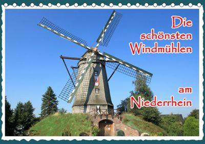 Die schönsten Windmühlen am Niederrhein (Tischkalender 2019 DIN A5 quer), Michael Jäger