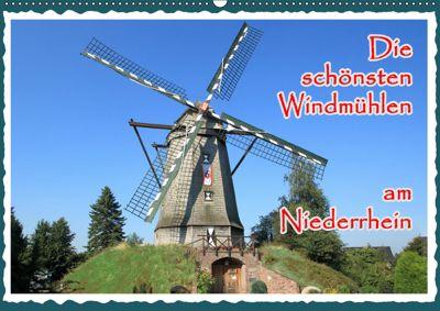 Die schönsten Windmühlen am Niederrhein (Wandkalender 2019 DIN A2 quer), Michael Jäger