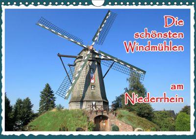 Die schönsten Windmühlen am Niederrhein (Wandkalender 2019 DIN A4 quer), Michael Jäger