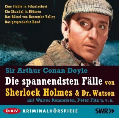 Die spannendsten Fälle von Sherlock Holmes & Dr. Watson, 5 CDs, Arthur Conan Doyle