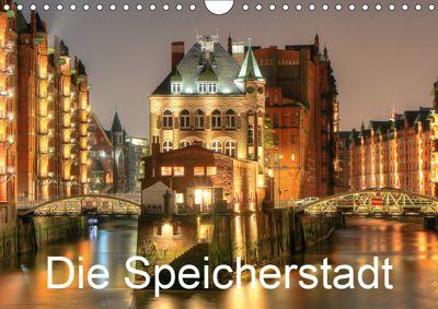 Die Speicherstadt (Wandkalender 2019 DIN A4 quer), Joachim Hasche