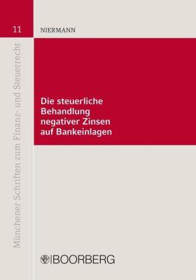 Die steuerliche Behandlung negativer Zinsen auf Bankeinlagen, Marcus Niermann