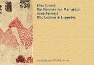 Die Stimmen von Marrakesch, m. 2 Audio-CDs, Elias Canetti
