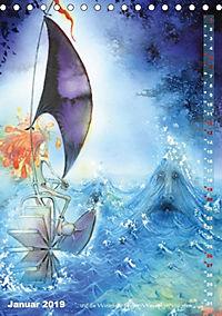 """""""Die Suche nach dem Narrenschlüssel"""" - Illustrationen einer Phantastischen Reise (Tischkalender 2019 DIN A5 hoch) - Produktdetailbild 10"""