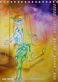 """""""Die Suche nach dem Narrenschlüssel"""" - Illustrationen einer Phantastischen Reise (Tischkalender 2019 DIN A5 hoch) - Produktdetailbild 13"""