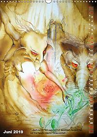 """""""Die Suche nach dem Narrenschlüssel"""" - Illustrationen einer Phantastischen Reise (Wandkalender 2019 DIN A3 hoch) - Produktdetailbild 6"""