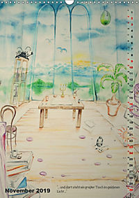"""""""Die Suche nach dem Narrenschlüssel"""" - Illustrationen einer Phantastischen Reise (Wandkalender 2019 DIN A3 hoch) - Produktdetailbild 11"""