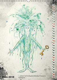 """""""Die Suche nach dem Narrenschlüssel"""" - Illustrationen einer Phantastischen Reise (Wandkalender 2019 DIN A3 hoch) - Produktdetailbild 3"""