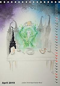 """""""Die Suche nach dem Narrenschlüssel"""" - Illustrationen einer Phantastischen Reise (Tischkalender 2019 DIN A5 hoch) - Produktdetailbild 4"""