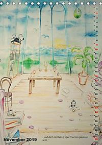 """""""Die Suche nach dem Narrenschlüssel"""" - Illustrationen einer Phantastischen Reise (Tischkalender 2019 DIN A5 hoch) - Produktdetailbild 11"""