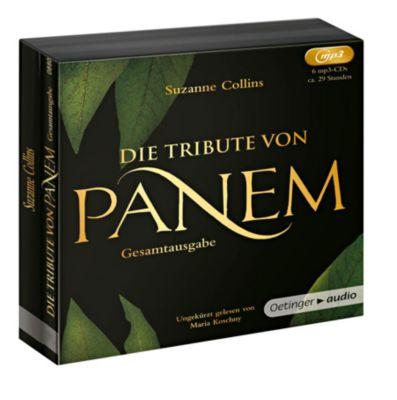 Die Tribute von Panem 1-3 - Gesamtausgabe, 6 MP3-CDs, Suzanne Collins