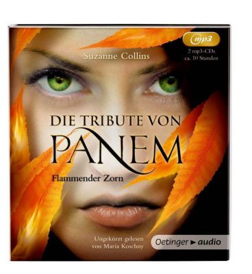 Die Tribute von Panem - Flammender Zorn, 2 MP3-CDs, Suzanne Collins