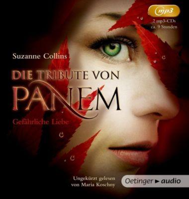 Die Tribute von Panem - Gefährliche Liebe, 2 MP3-CDs, Suzanne Collins