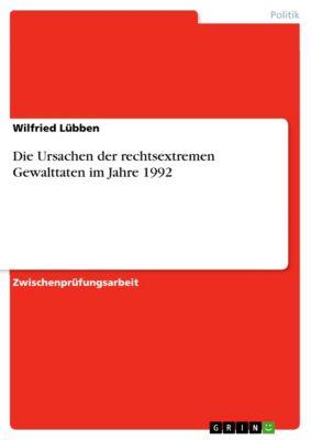 Die Ursachen der rechtsextremen Gewalttaten im Jahre 1992, Wilfried Lübben