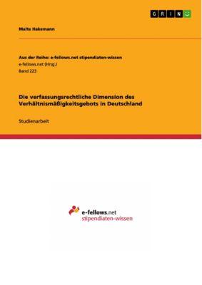 Die verfassungsrechtliche Dimension des Verhältnismässigkeitsgebots in Deutschland, Malte Hakemann