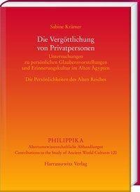 Die Vergöttlichung von Privatpersonen - Sabine Krämer pdf epub