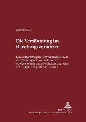 Die Versäumung im Berufungsverfahren, Gunnar Lüer