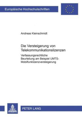 Die Versteigerung von Telekommunikationslizenzen, Andreas Kleinschmidt