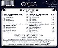 Die Vier Violinsonaten D 384/385/408/574 - Produktdetailbild 1