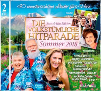 Die volkstümliche Hitparade Sommer 2018, Diverse Interpreten